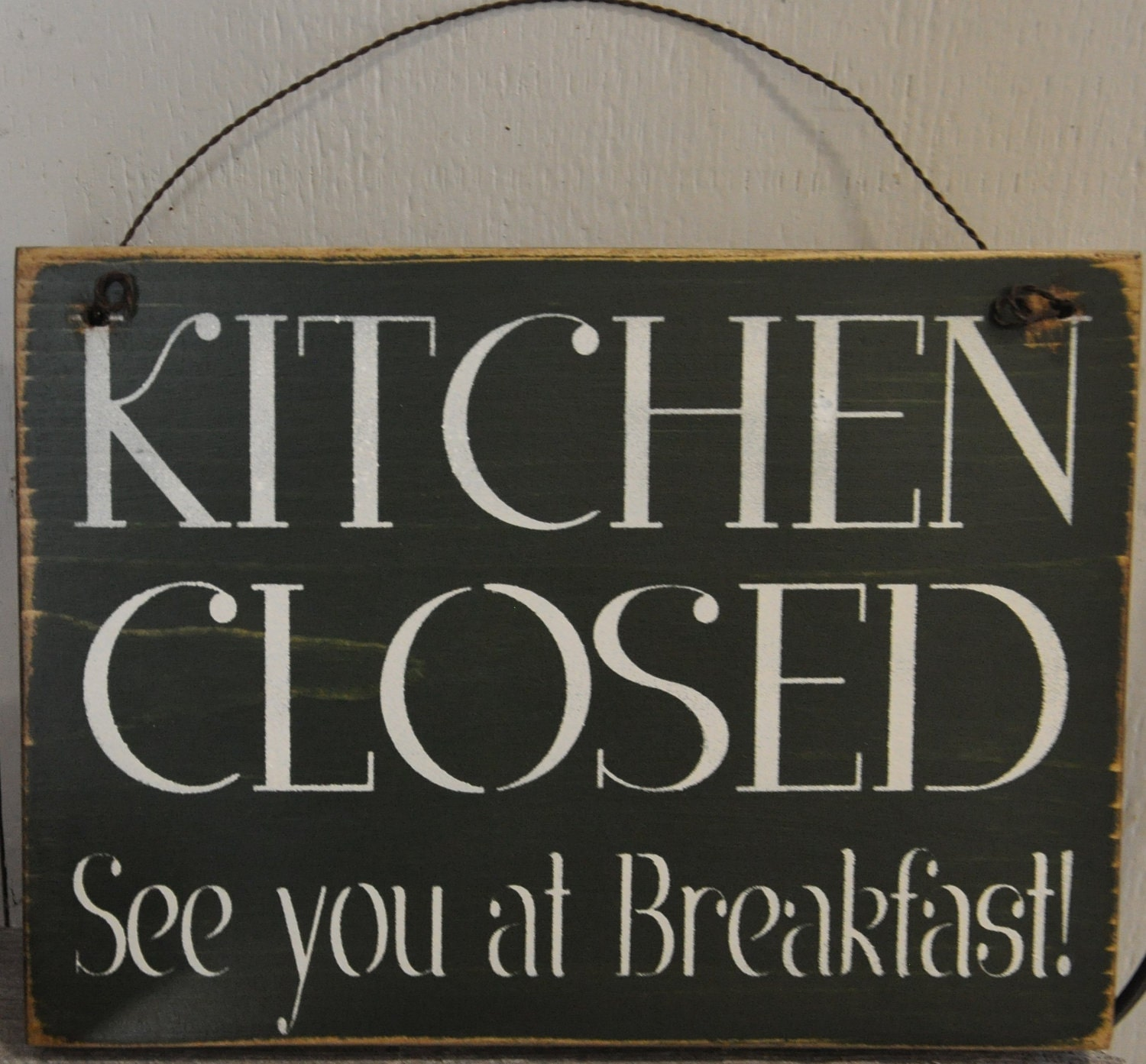 Primitive Wooden Kitchen Signs: Unavailable Listing On Etsy