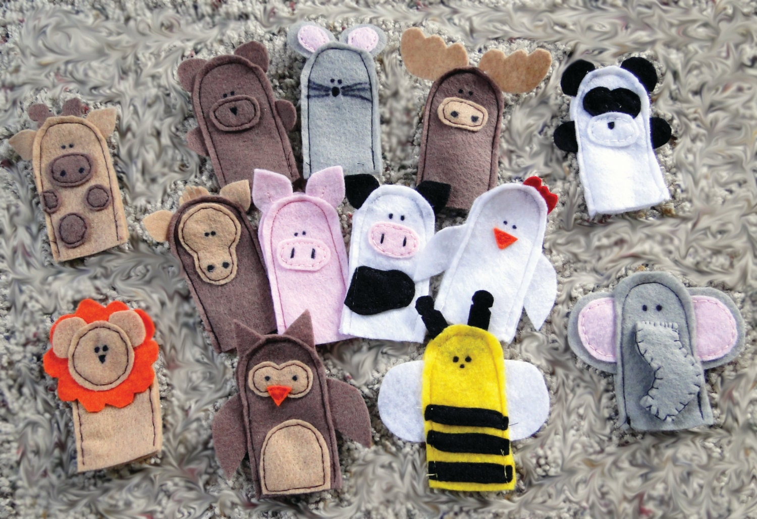 Instant Download 16 Finger Puppet PDF Pattern