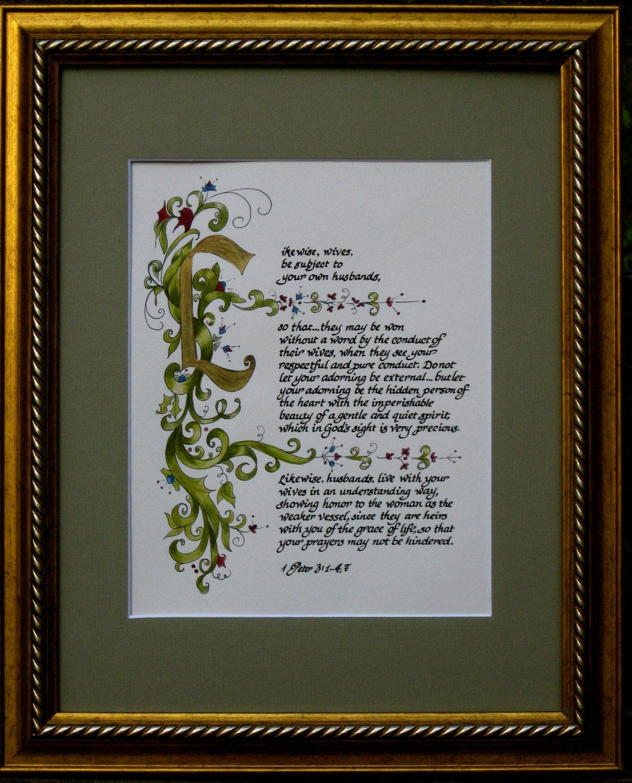 Custom Calligraphy Calligraphy Custom Bible I By