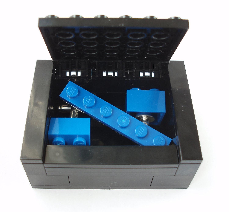 Groomsmen Cufflinks  Tie Slide Gift Set Includes Box  Handmade with LEGO(r) Bricks  Wedding Cufflinks Grooms Cufflinks
