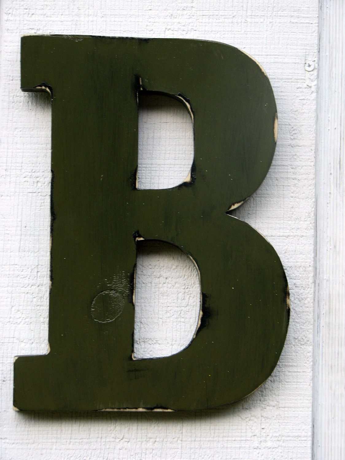 Home Decor Distressed Olive Green 12 Tall Wood Name Letters Custom