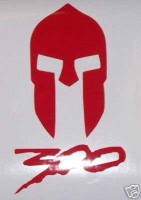 Spartan Helmet 300 Larp Logo Decal Sticker Sca By
