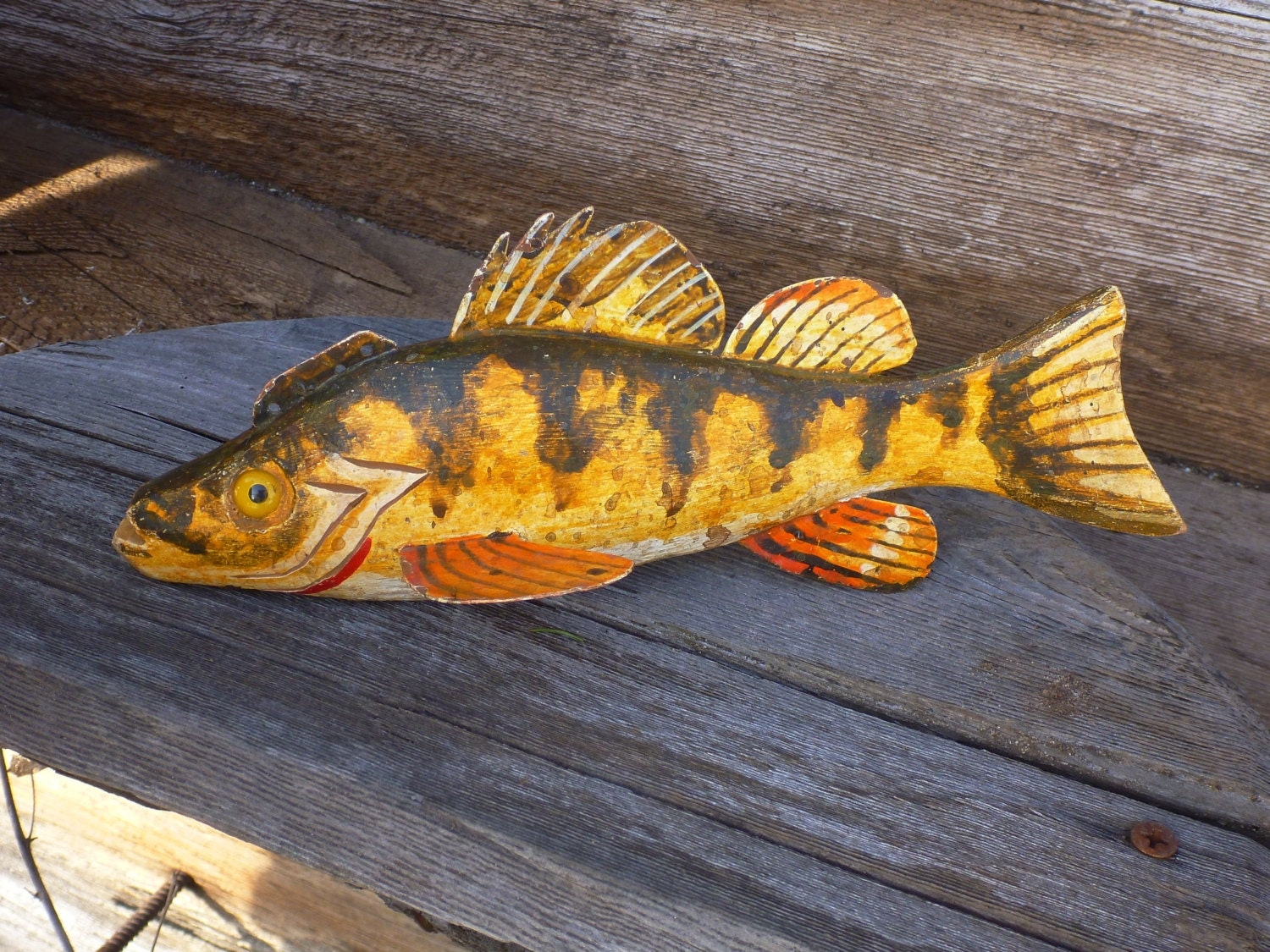 Popular items for yellow perch on etsy for Ice fishing perch lures