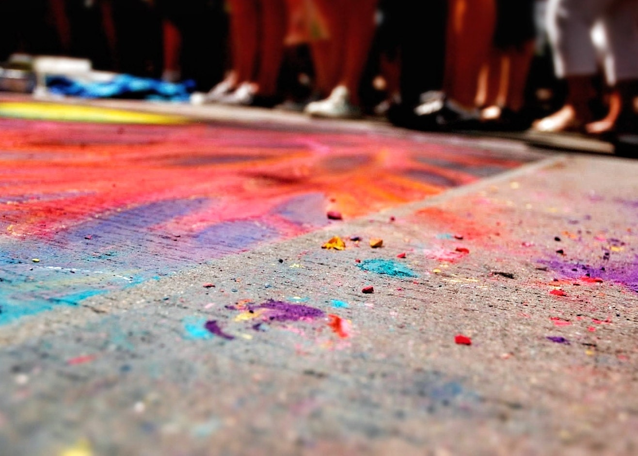 Chalk, 11x14 inch fine art print ready to frame, Denver Chalk Art Festival 2011 - PollenPictures