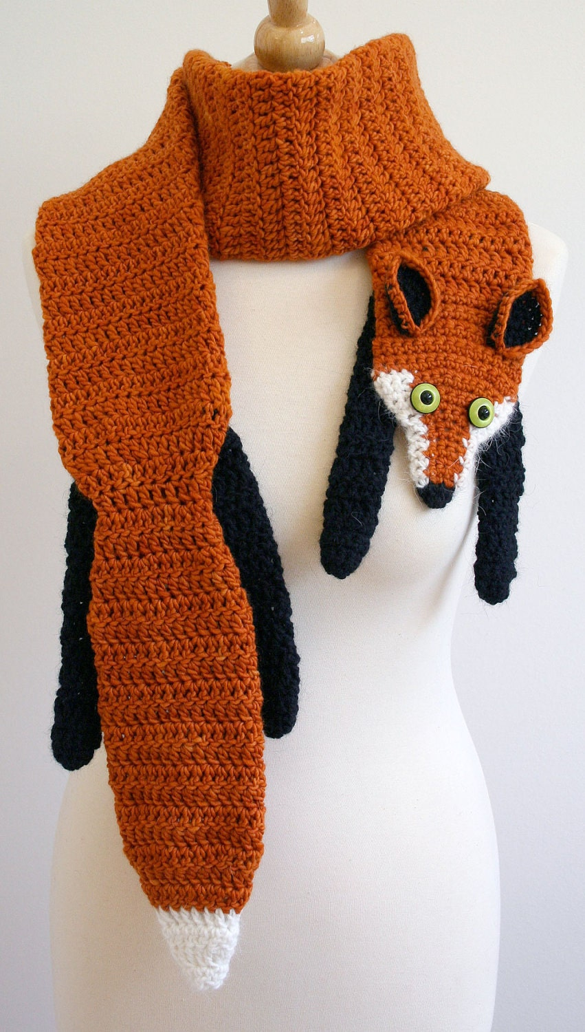 Gallery For > Crochet Animal Scarf