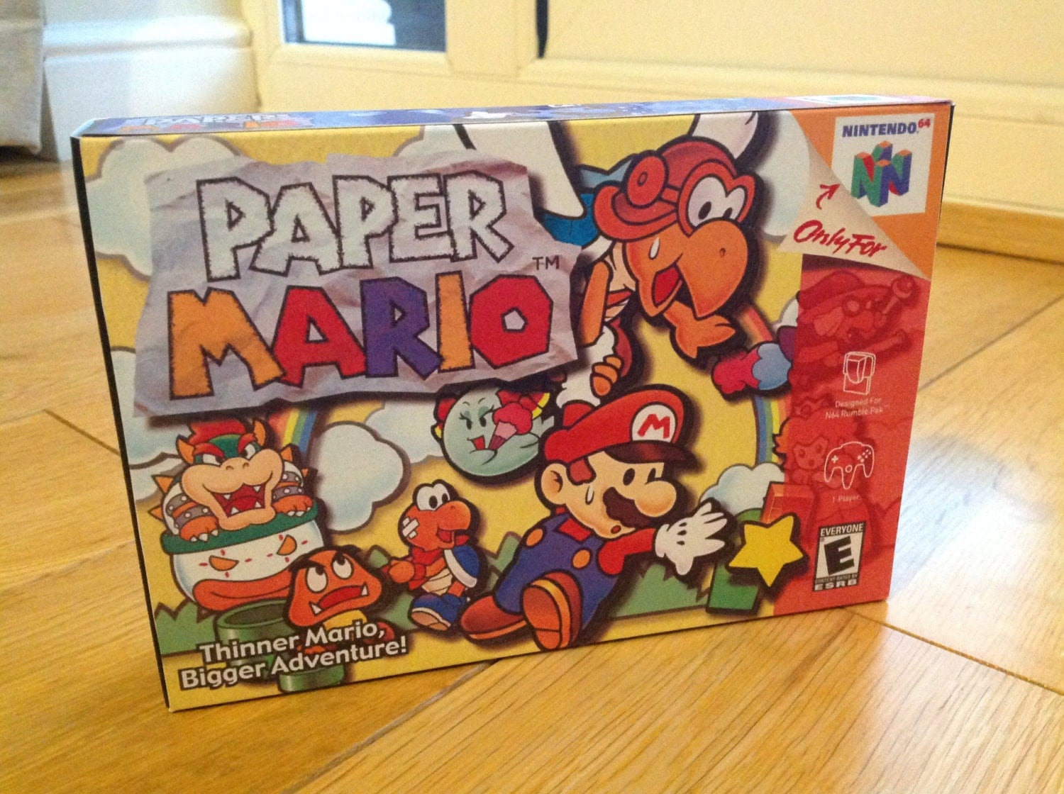 N64 Paper Mario   Repro Box and Insert NO Game Included
