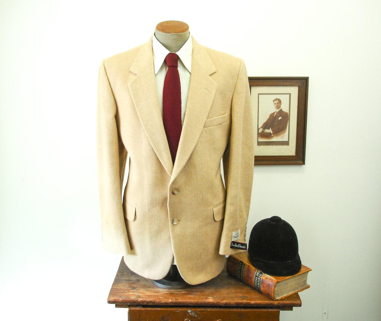 1970s camel hair mens vintage herringbone suit jacket blazer sport