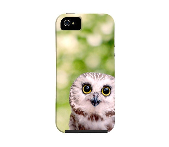 iPhone 5 case, cute owl iPhone case, nature, owl iphone case, saw whet owl, iphone 4, cover, woodland, bird, animal - semisweetstudios