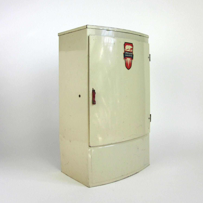 Tin Metal Polar Refrigerator 50s / Vintage Wolverine Toy - OopseeDaisies