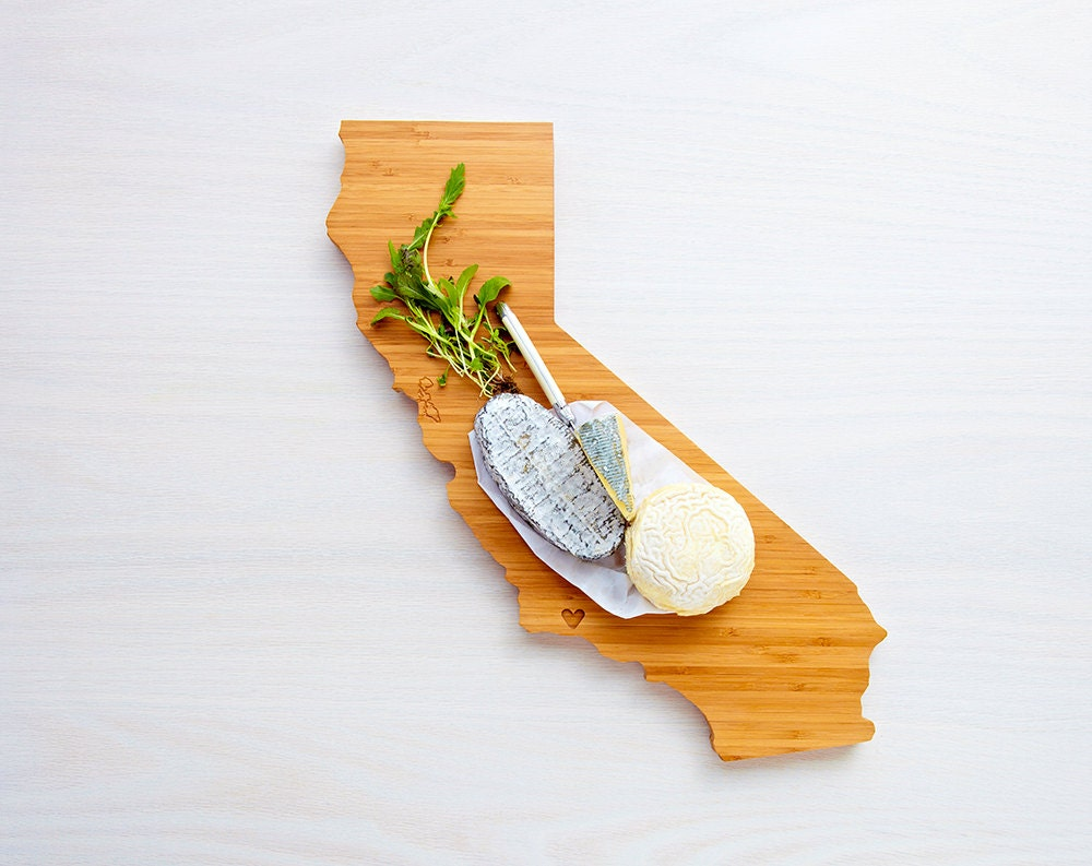 california state shaped cutting board in bamboo by aheirloom. Black Bedroom Furniture Sets. Home Design Ideas