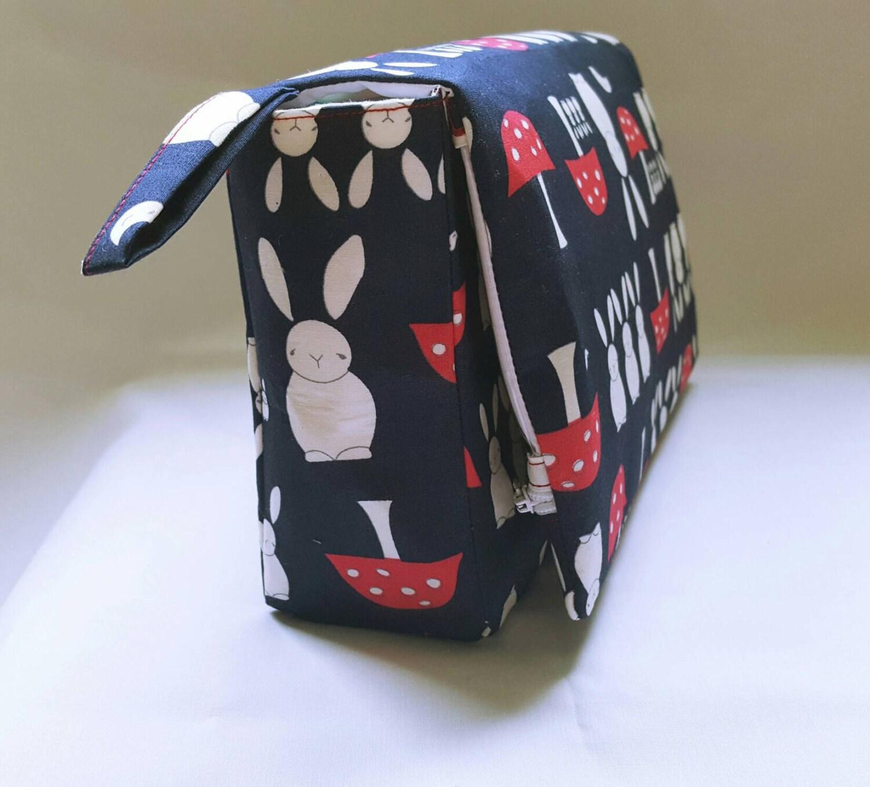 Baby changing bag Bunny mushroom navy nappy clutch bag nappy bag diaper clutch daycare bag nursery bag diaper bag small changing bag