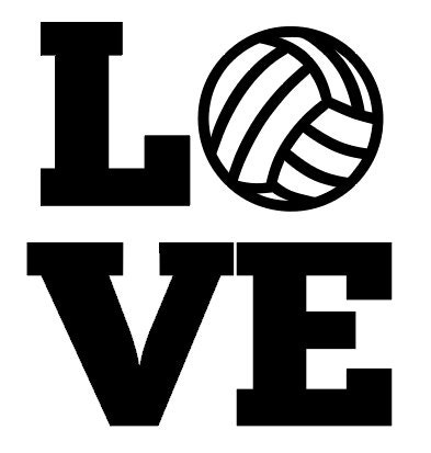 Personalized Volleyball Love Iron On Decal Vinyl By Missmorgan