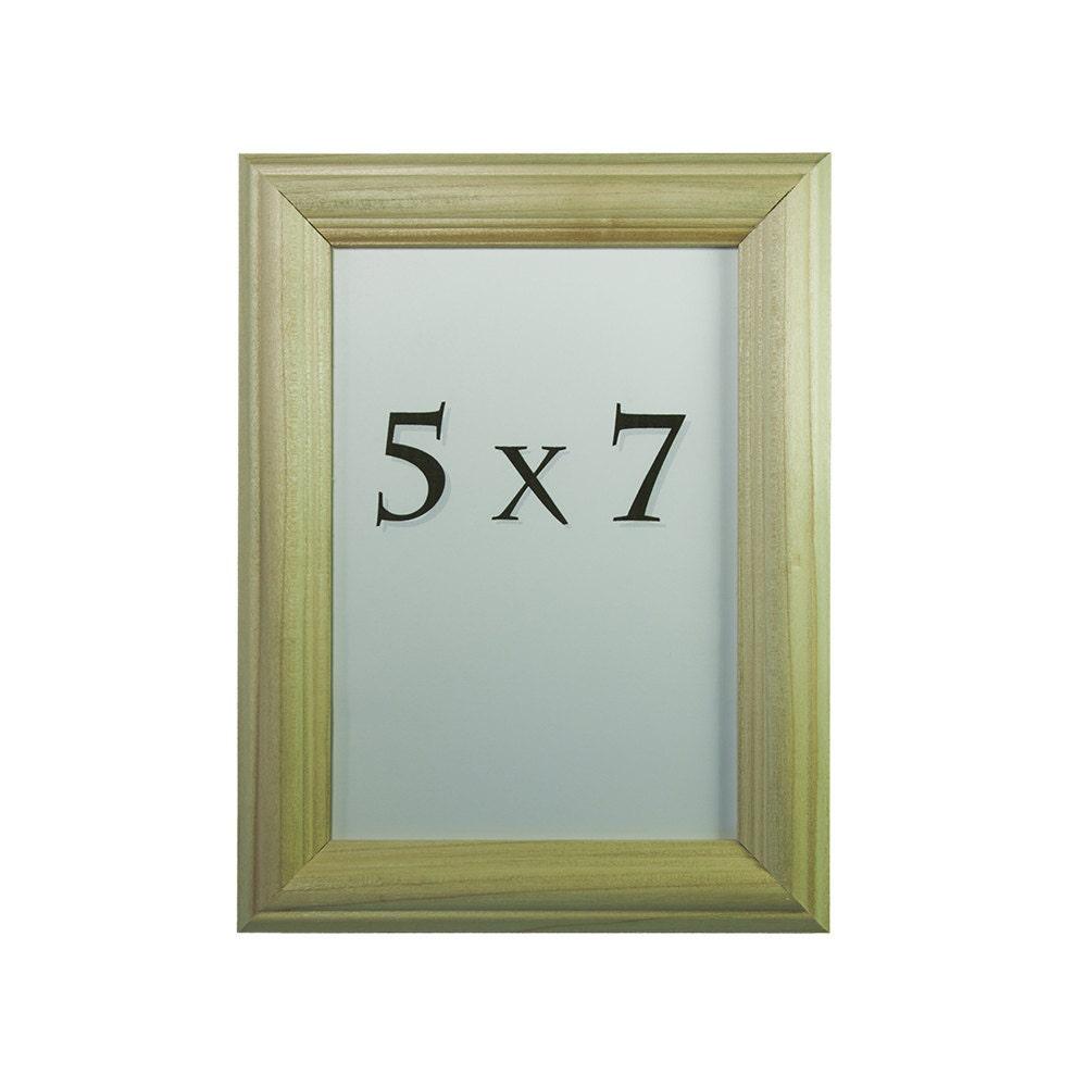 5x7 unfinished wood poplar picture frame by smithwoodcraft on etsy. Black Bedroom Furniture Sets. Home Design Ideas