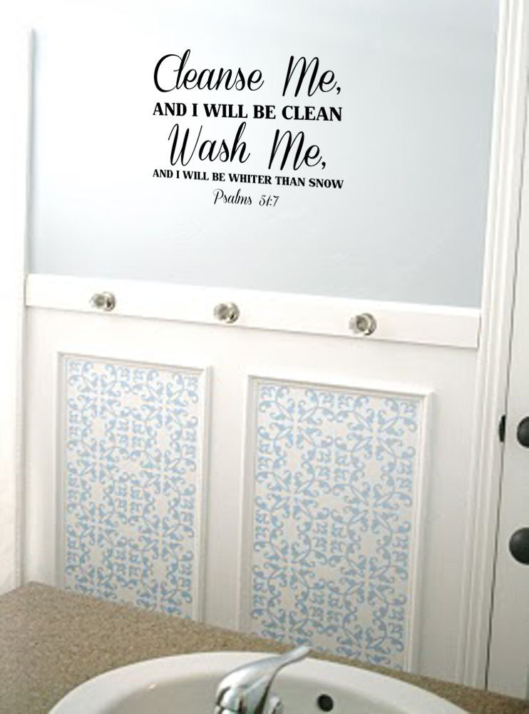 me wash me psalms 51 7 vinyl wall art decal bathroom laundry room