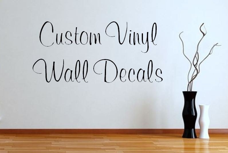 Custom vinyl wall decals design your own by for Create your own wall mural photo