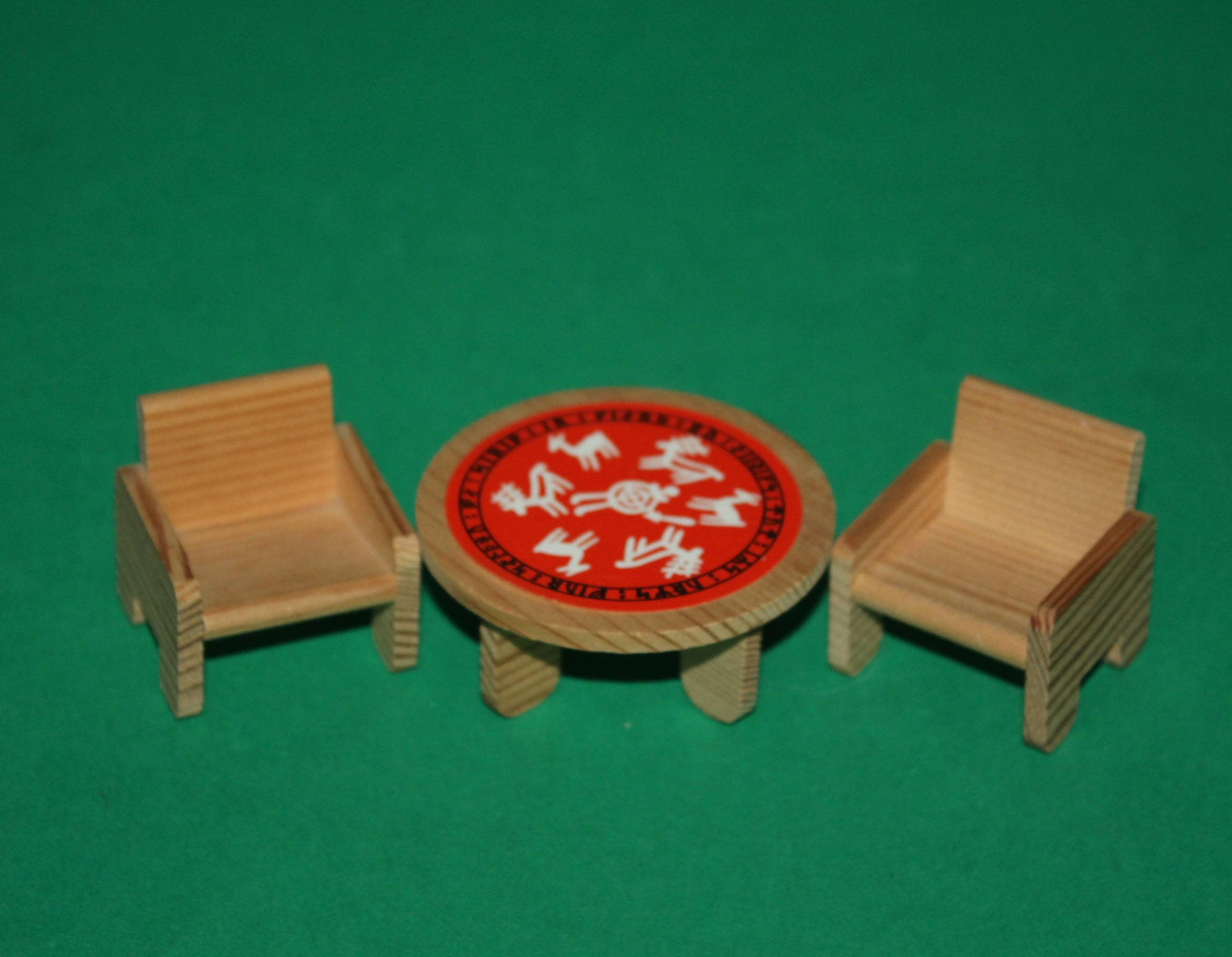 Vintage Dolls House Lundby Kids Room Table  Chairs
