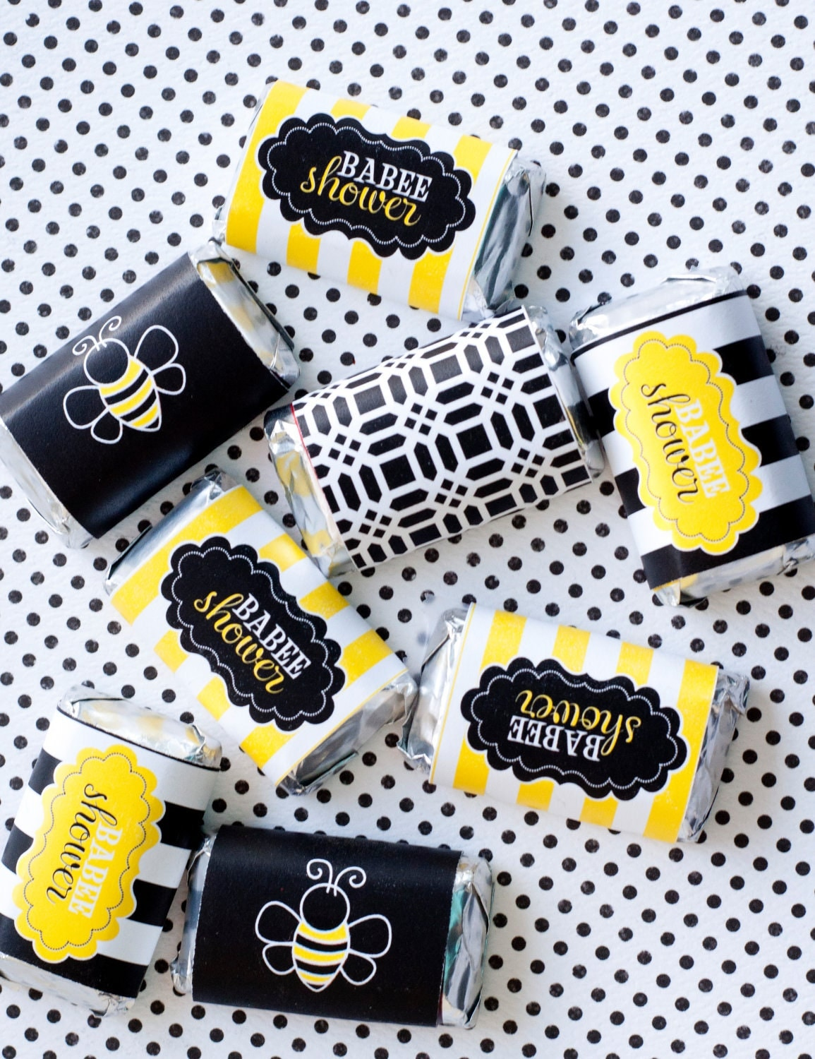mama to bee baby shower printable candy bar wrappers by lovetheday
