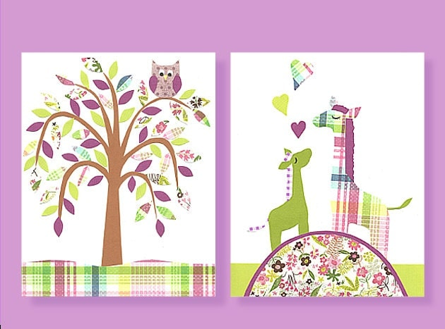Purple And Green Weeping Willow Purple Giraffe Magenta And Green