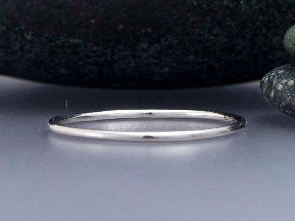 thin platinum wedding band 1mm stacking by