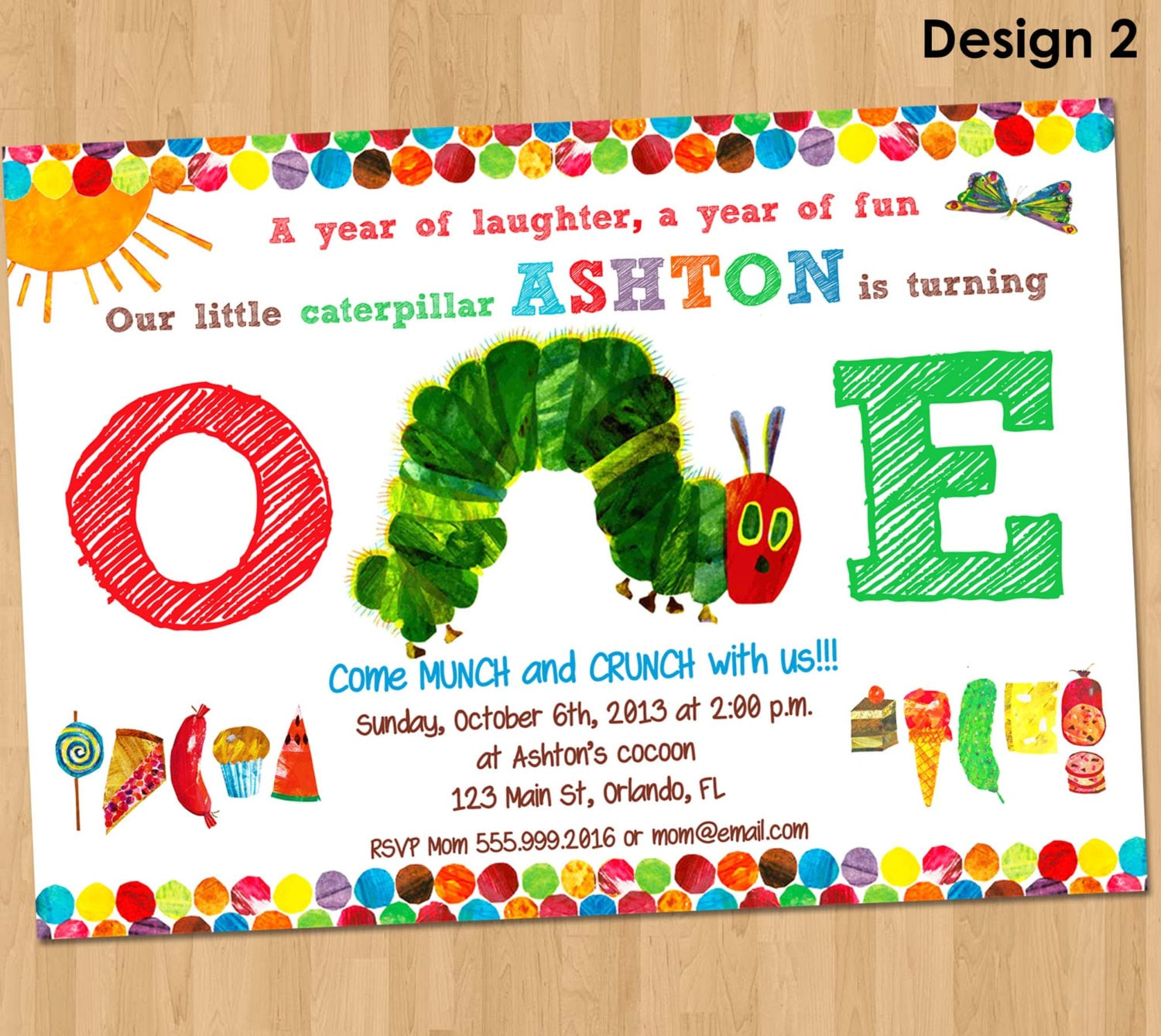 Hungry Caterpillar Invite was awesome invitations template