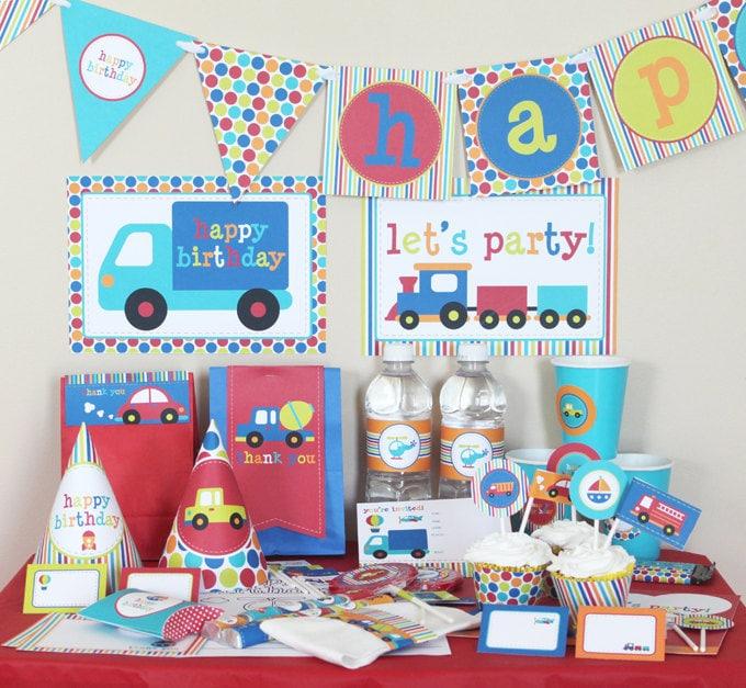 Transportation Birthday Party Decorations - Boy Birthday Party ...