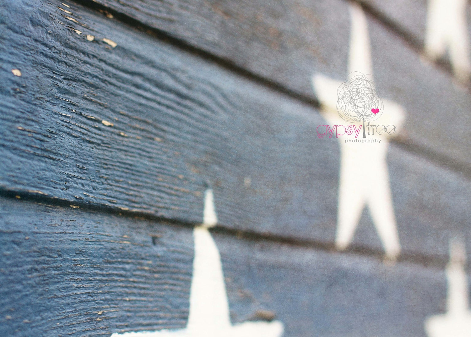 Rustic Photograph - Pride  - 8x10 Photograph Stars Painted on Building