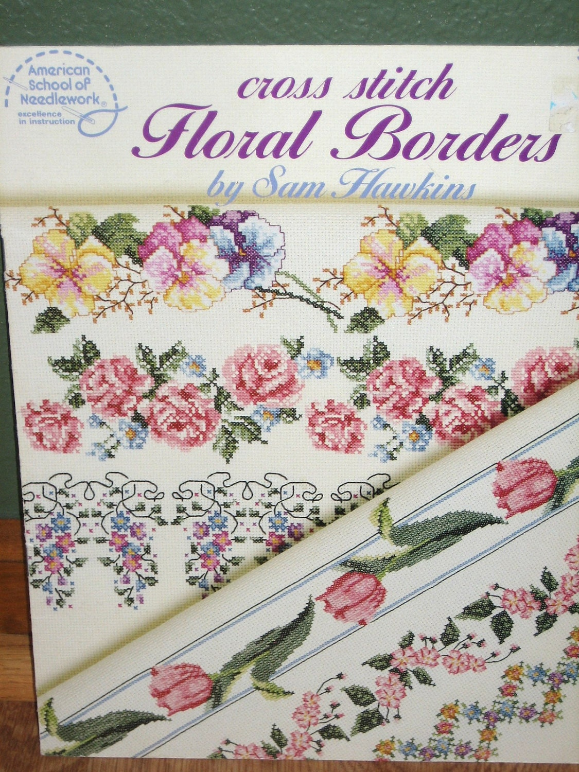 Cross stitch floral borders booklet by allstitchedout2 on etsy