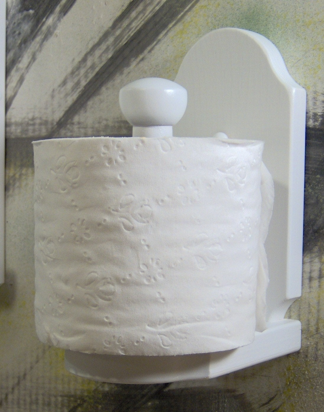 White Wood Vertical Toilet Paper Holder By Jahnjed On Etsy