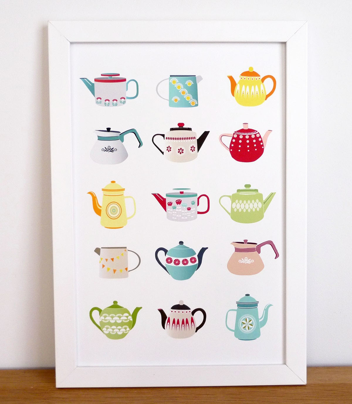 Teapots - A4 print