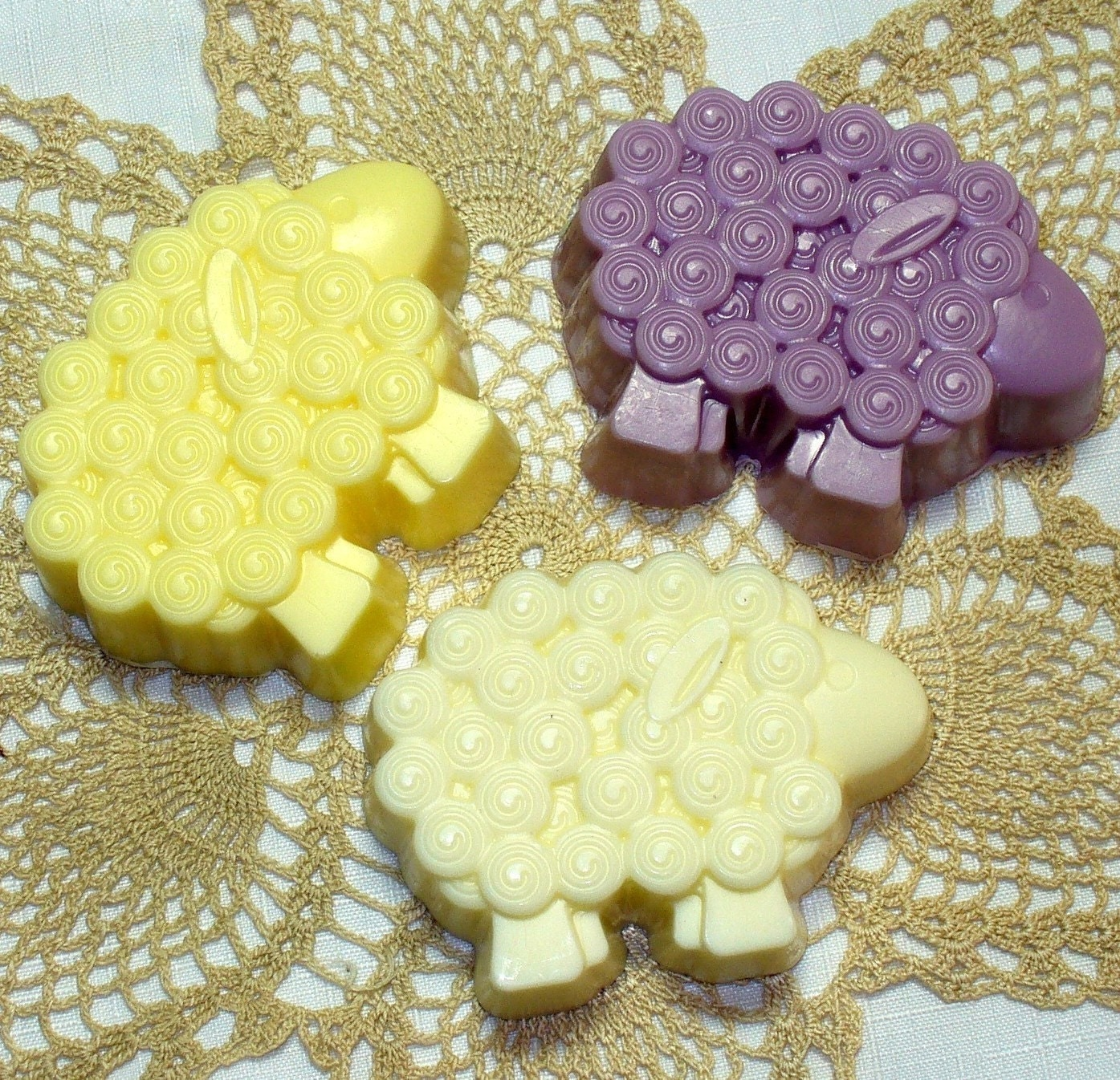 Kids Sheep Soap - Set of Three Sheep Shaped Soaps - You Pick the Scent - STORE WIDE SALE