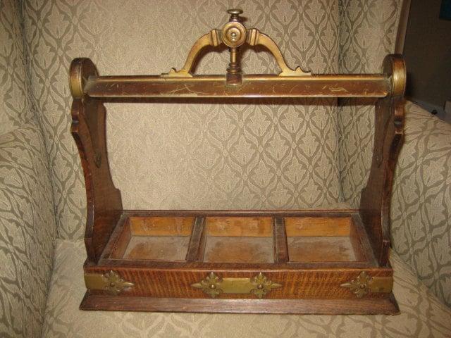 Antique Oak Amp Brass Liquor Decanter Holder By Annemarieaustin