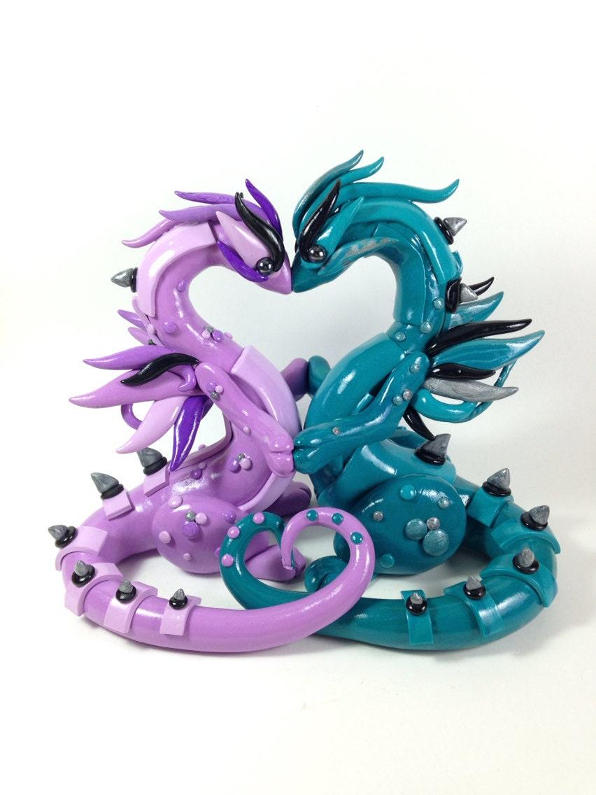 Custom Dragon Wedding Cake Topper by PatchRabbit on Etsy