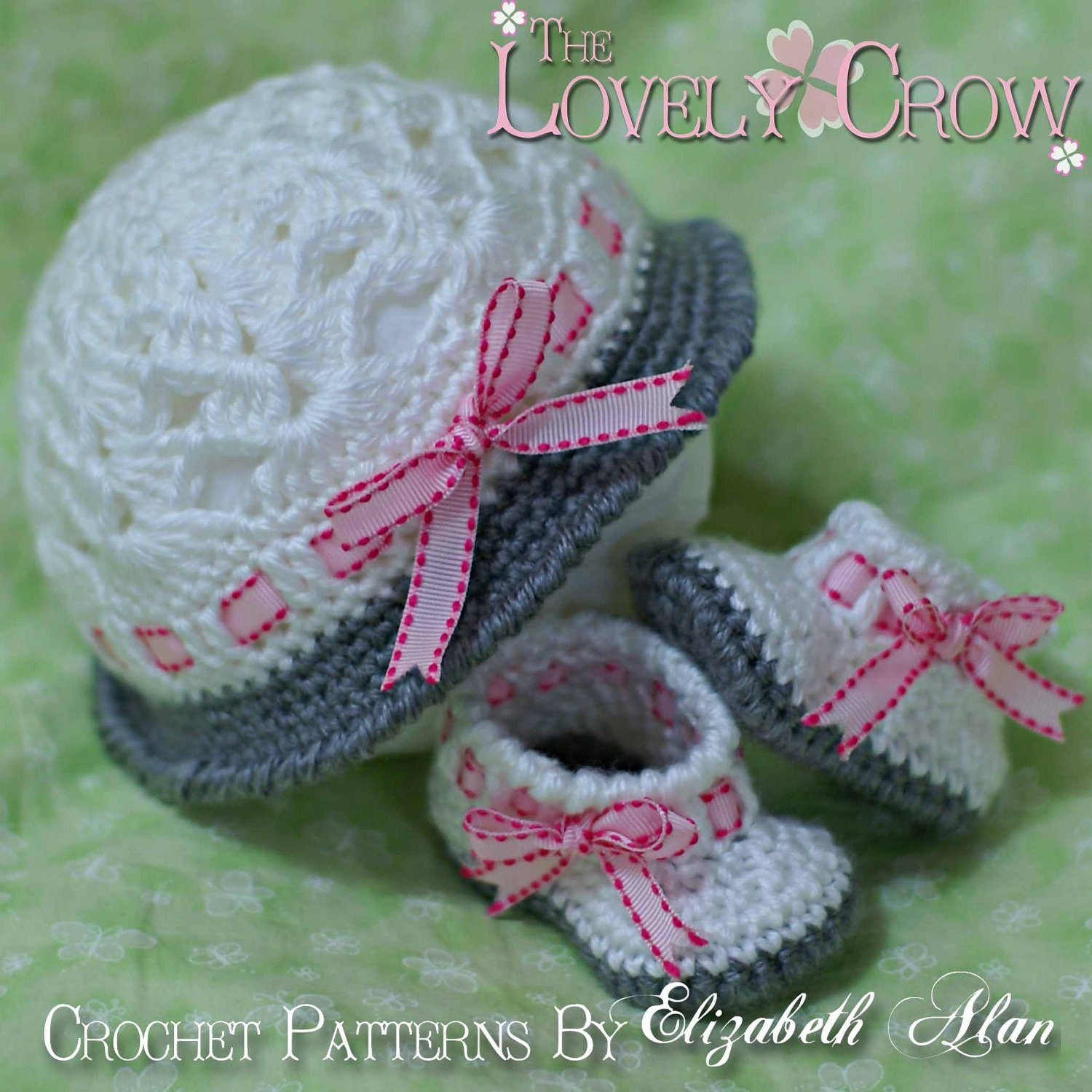 Baby Hat and Booties Crochet Patterns MY ANGEL by ...