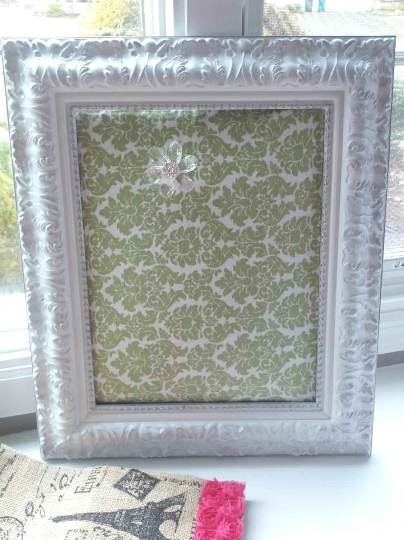 items similar to large decorative framed bulletin board. Black Bedroom Furniture Sets. Home Design Ideas