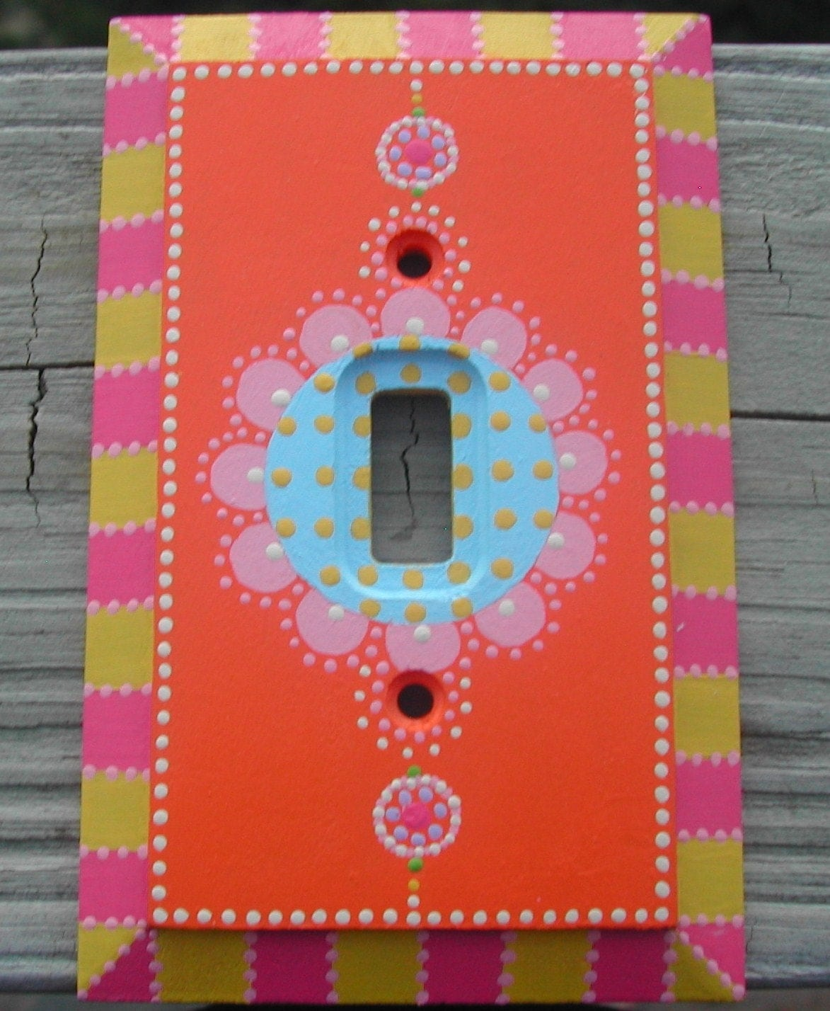 Items Similar To Switch Plate Hand Painted Single Toggle