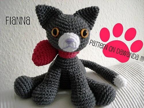 Amigurumi Pattern Little Cat Fianna PDF by Janagurumi on Etsy