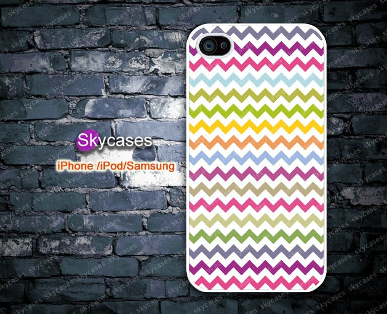 Case for iPhone 4 iPhone 4s iPhone 4g iPhone 5 iPod touch 4 iPod touch 5 Samsung Galaxy S3 Samsung Galaxy S4 Pastel Chevron Design (SK10)