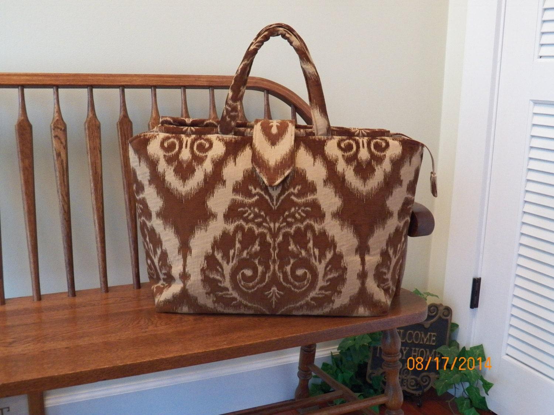Chocolate High  Tapestry Carpet Bag 140    My BIG BEAUTIFUL BAGS       Oversized Bag  Weekender Bag $50.00 AT vintagedancer.com