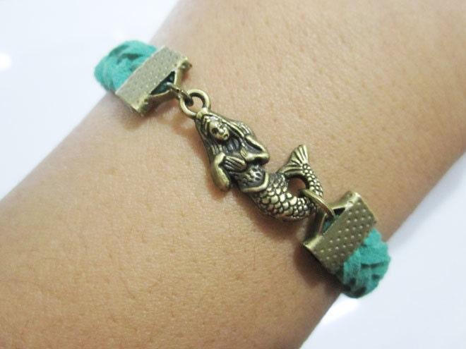 Bracelet- bronze  mermaid bracelet