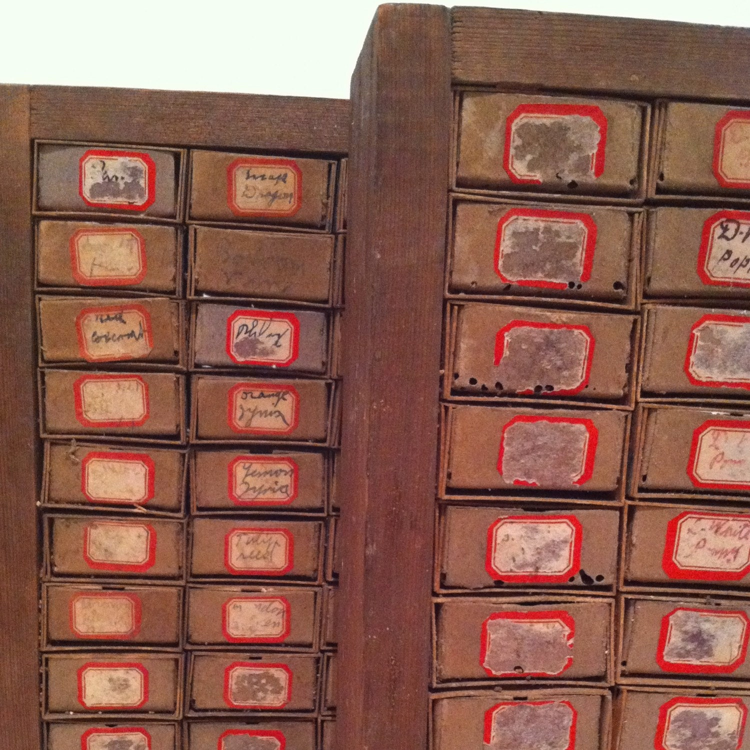 Old Seed Storage Box With Matchbox Drawers By Vintagemixes