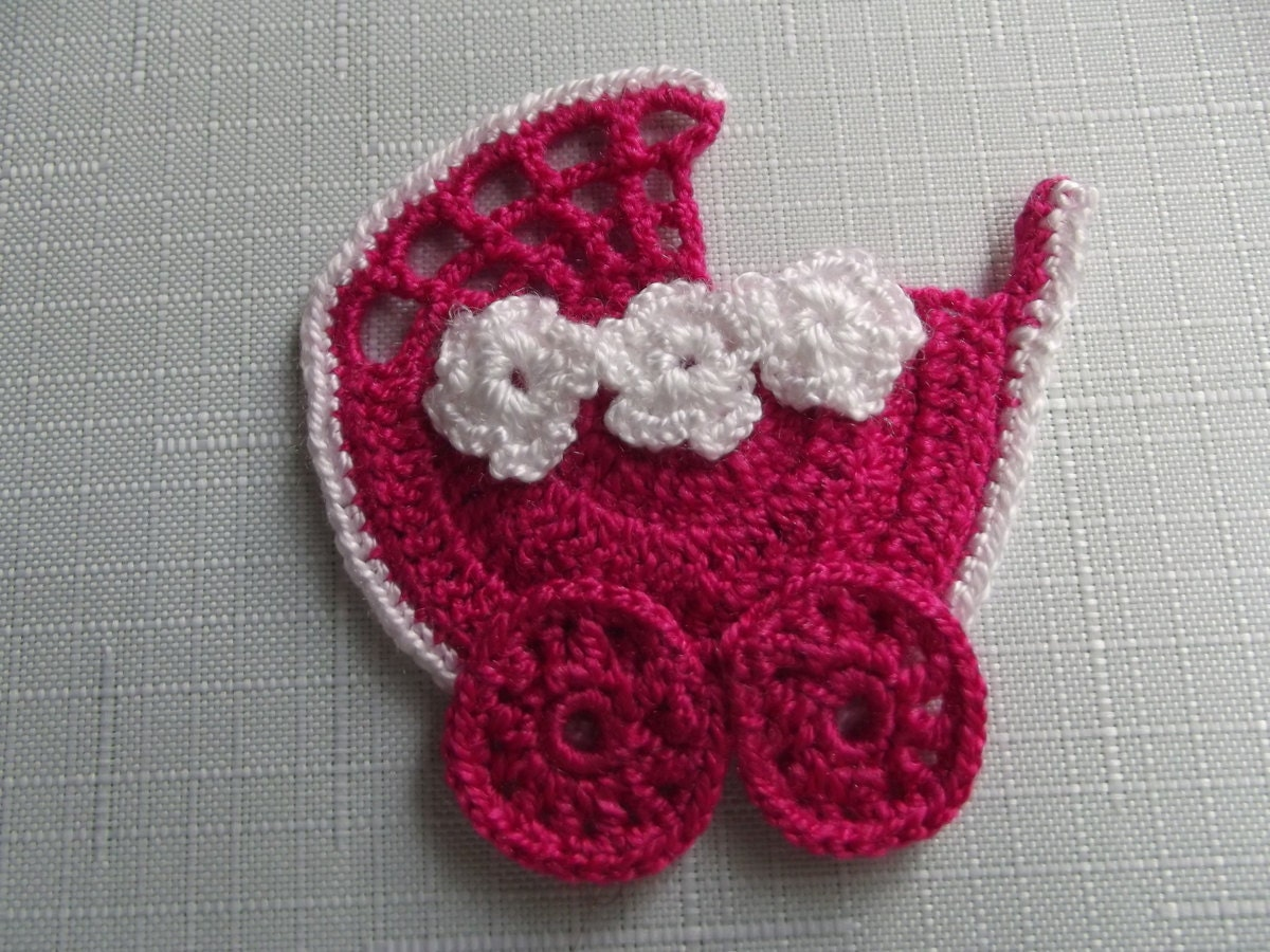 CROCHET  APPLIQUE  Stroller...
