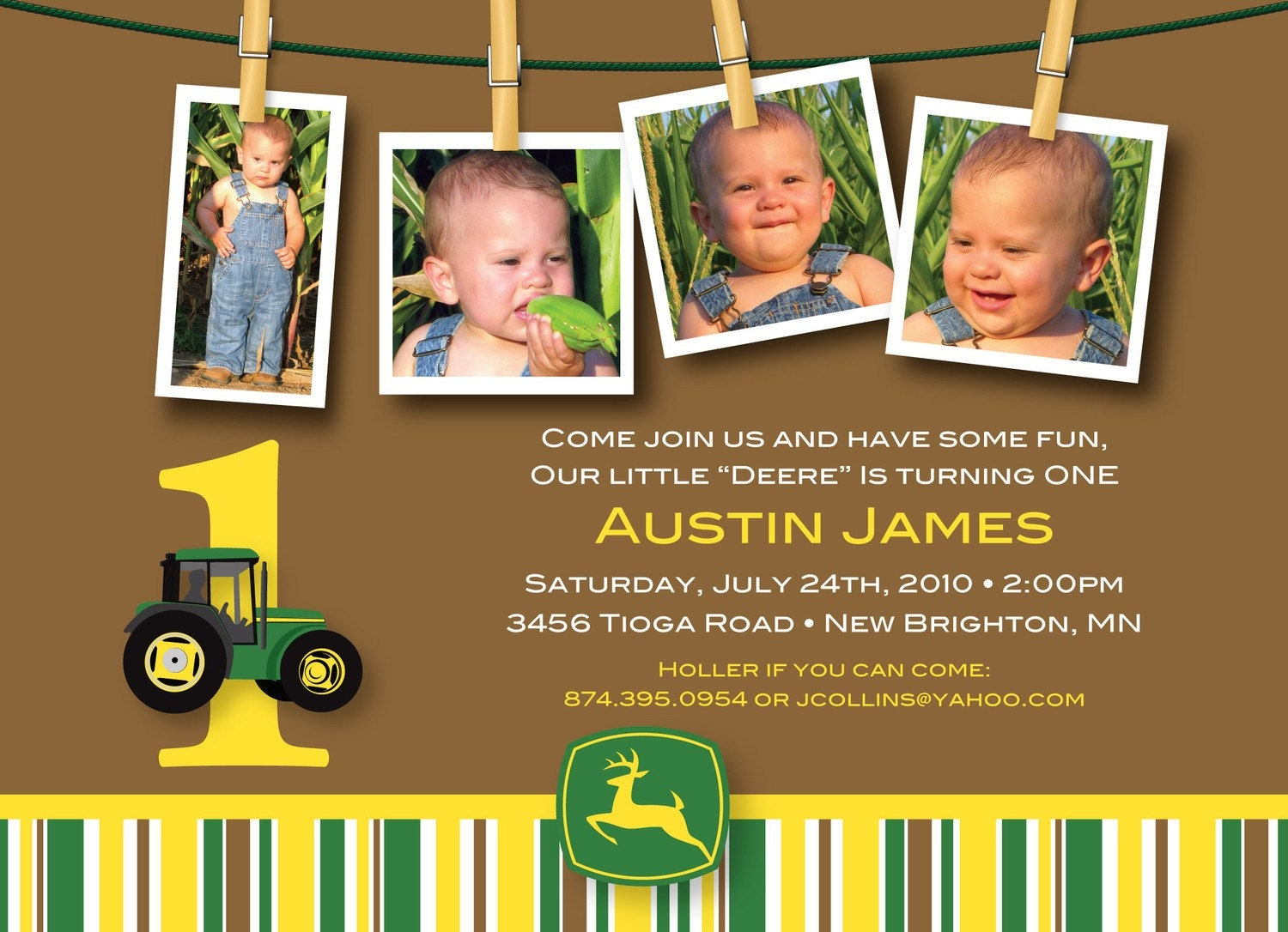 John Deere Party Invitations for your inspiration to make invitation template look beautiful
