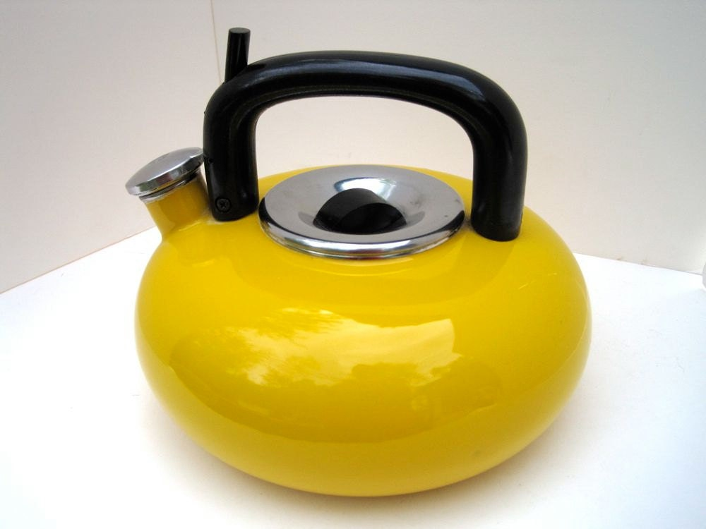 Mustard Yellow Whistling Tea Kettle By Wavesong On Etsy