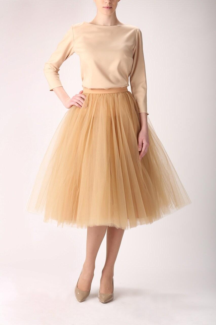Пышная золотая юбка