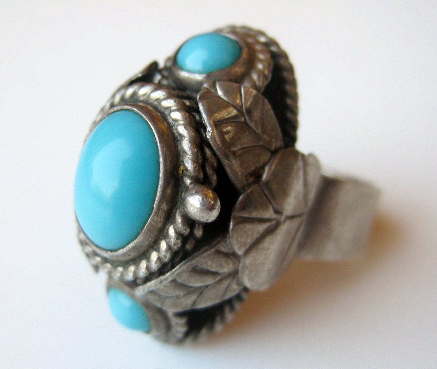 vintage ring taxco mexican sterling silver by socaljewelbox