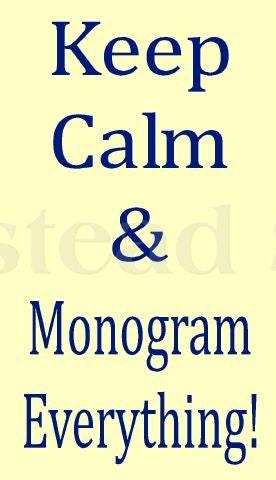 how to make a monogram stencil