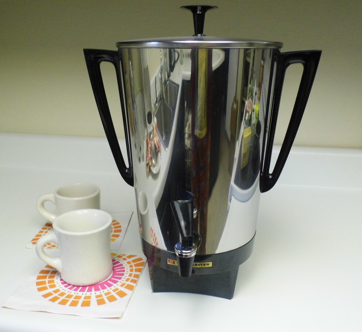Vintage Electric Coffee Maker : Items similar to Vintage 30 Cup Electric Coffee Maker Pot Retro Toastmaster on Etsy