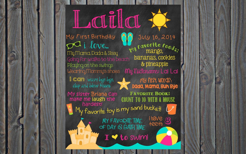 Birthday poster board