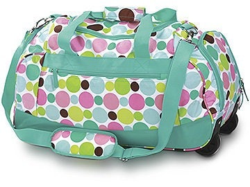 Roller Duffle Travel Luggage Carry On Graduation Monogrammed Bag Tote