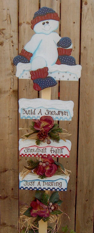 Items similar to christmas or winter decor wood snowman